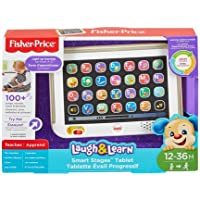 Fisher Price Ríe y Aprende Tablet de Aprendizaje Crece Conmigo, color Gris