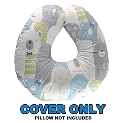Extra-Soft Breastfeeding Baby Support Pillow with 100% Hypoallergenic Bamboo Cover   Antibacterial Newborn Infant Feeding Cushion   Lightweight   Best Nursing Pillow for Boys&Girls
