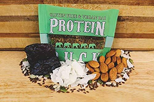 Protein Puck Bar, Gluten Free, Vegan, Non Gmo, Fiber Rich, Non-dairy, (Sun Butter - Coconut - Almond, 24 Count)