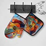 Dujiea Home Kitchen Oven Mitts and Potholders