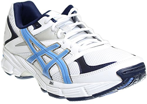 ASICS Women's Gel 190 TR Training Shoe, White/Periwinkle/Midnight Navy, 8.5 2E (Leather Cross Training Shoes)
