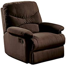 ACME 00635 Microfiber Glider Recliner in Chocolate by Furniture