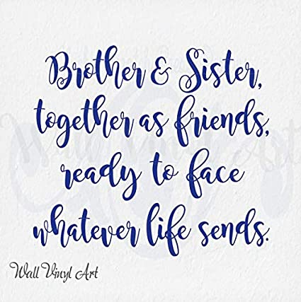 Amazon.com: Brother Sister Together As Friends Calligraphy ...