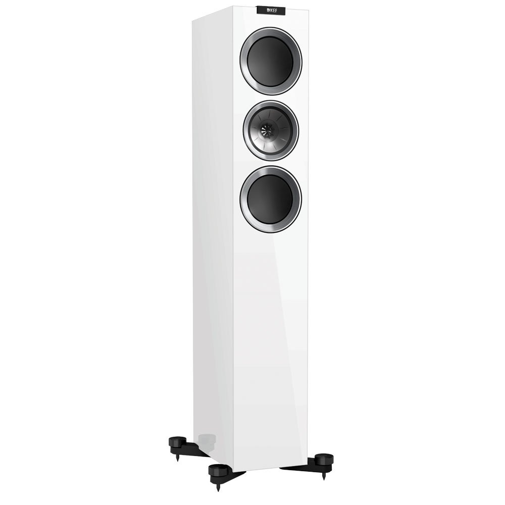 KEF R500 Floorstanding Loudspeaker - Gloss White (Pair) by KEF