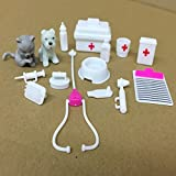 Ocamo Mini Medical Equipment Toys Set for Pet Barbie Doll Accessories 15pcs