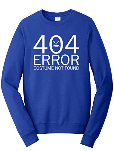 Dancing Participle Men's 404 Error Costume Not Found Sweatshirt, 3X-Large, Royal Blue - 404 Error Costume Not Found Image