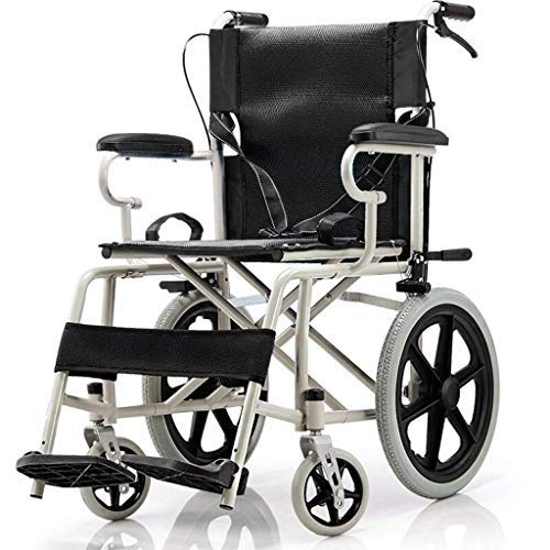 TPKNG Folding Transport Equipment Thicken Seats Fit armrests Lift Leg Support with Brakes for The Elderly, Disabled and Disabled