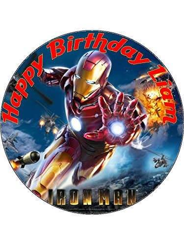 75 Iron Man Superheroes Edible Icing Birthday Cake Topper Superhero