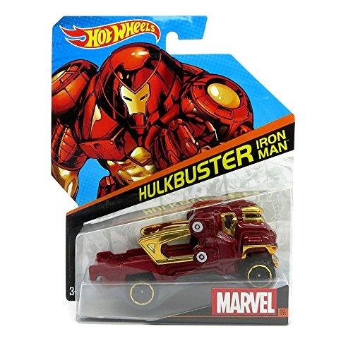 Hot Wheels, Marvel Character Car, Hulkbuster Iron Man #19, 1:64 Scale