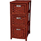 Oriental Furniture 25″ Natural Fiber Occasional Chest of Drawers – Mahogany Review
