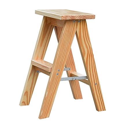 Amazoncom Folding Wooden Stepladder Utility 2 Step Stool Ladder