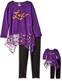 "Dollie & Me Little Girls' ""Love Script"" 2-Piece Outfit with Doll Outfit"