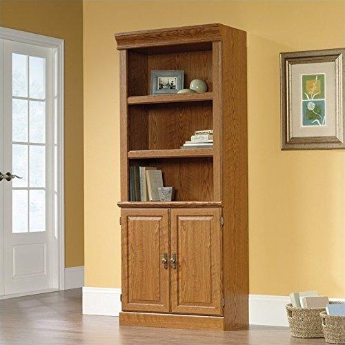 Sauder Orchard Hills Library with Doors, Carolina Oak by Sauder