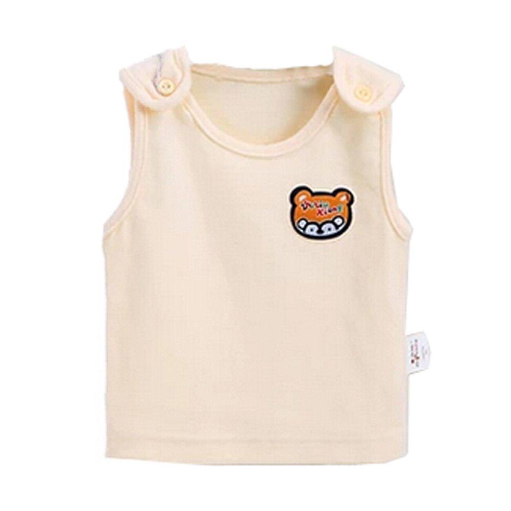 Bébé Coton Vêtements sans manches d'été Gilet avec ours, Jaune KE-CLO3512067011-JELLY00286