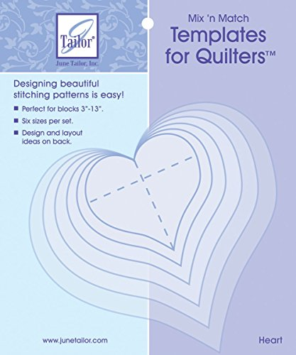 Mix'n Match Templates For Quilters Heart