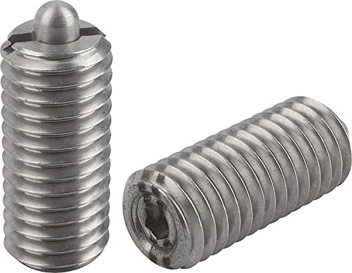 Kipp 03055-205 Stainless Steel Pin and Body Spring Plungers, Pin Style, Hexagon Socket, Heavy End Pressure, Metric, M5 Thread (Pack of 10) by Kipp