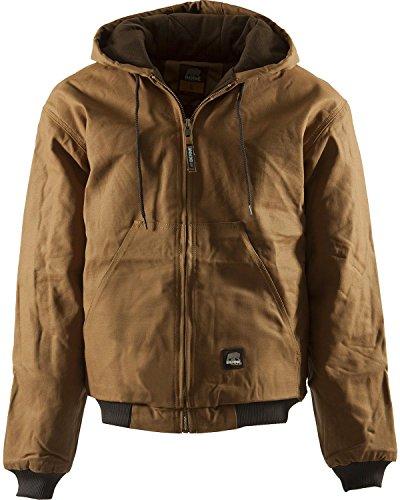 Berne Men's Original Hooded Jacket, Brown, Large/Regular from Berne