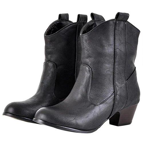 AIYOUMEI Women's Classic Boot Black gvAjaRTUR