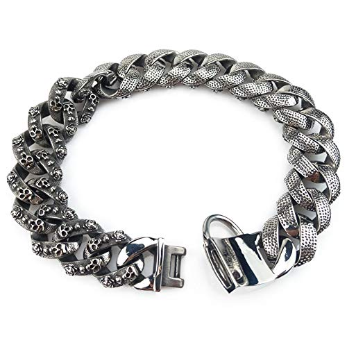 Luxury Dog Choke Collar Chain/Slip Martingale P Chain/Heavy Duty Stainless Steel 32mm Curb Chain/Best for Small Medium Large Breeds - for Pit Bull Mastiff Bulldog Big Breeds,F by MUJING (Image #3)