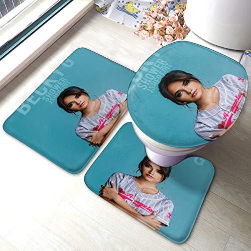 RegGaineyina Becky G Shower 3-Piece Bathroom Rug Set,Comfortable Bathroom Decor,Bathroom Rug and Mat Set