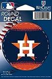 "MLB Houston Astros WCR68012013 Round Vinyl Decal, 3"" x 3"""