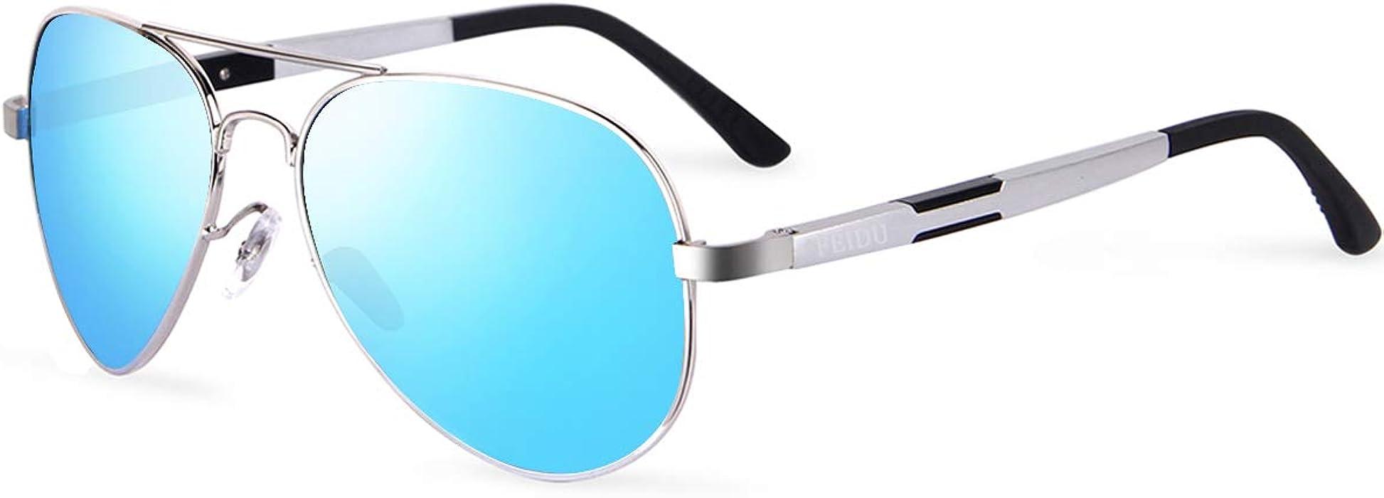 7b8c0ca2c86df FEIDU Mens Polarized Aviator Sunglasses Metal Frame Unisex Sun Glasses  FD9001