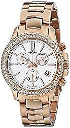 Rotary Women's alb90088/c/01 Analog Display Swiss Quartz Rose Gold Watch
