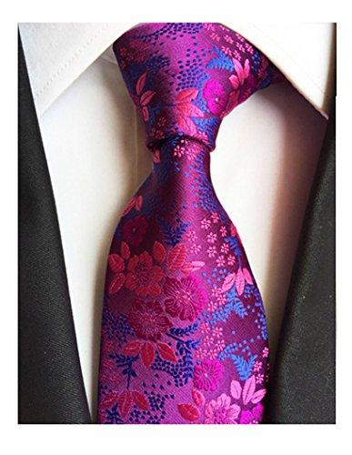 MENDENG Classic Navy Blue Paisley Jacquard Woven Silk Men's Tie Party - Bit 8 Bow Tie