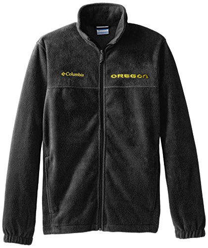 (NCAA Oregon Ducks Collegiate Flanker II Full Zip Fleece Jacket, Charcoal Heather, Small )