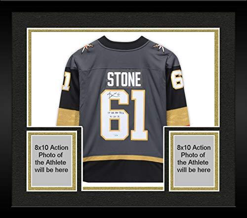 Framed Mark Stone Vegas Golden Knights Autographed Black Fanatics Breakaway Jersey with
