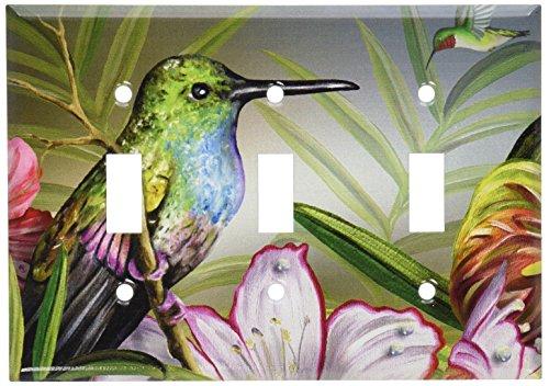 Art Plates - Hummingbird at Rest Switch Plate - Triple Toggle