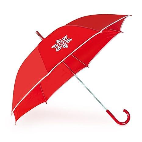 Lote de 10 Paraguas Automáticos Motivo Navidad - Ideal cómo regalos de Empresa, promocionales para