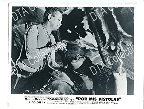 MOVIE PHOTO: POR MIS PISTOLAS-1968-8X10 PROMO STILL-MARIO MORENO-ISELA VEGA-WESTERN-C - Por Photo
