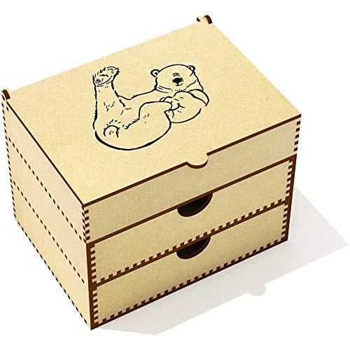 - Azeeda 'Playful Polar Bear' Vanity Case / Makeup Box (VC00004870)