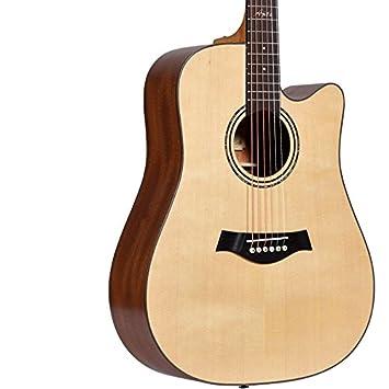 GFEI Caja de madera de chapa electrica guitarra folk principiante novato alumnos instrumentos de guitarra: Amazon.es: Instrumentos musicales