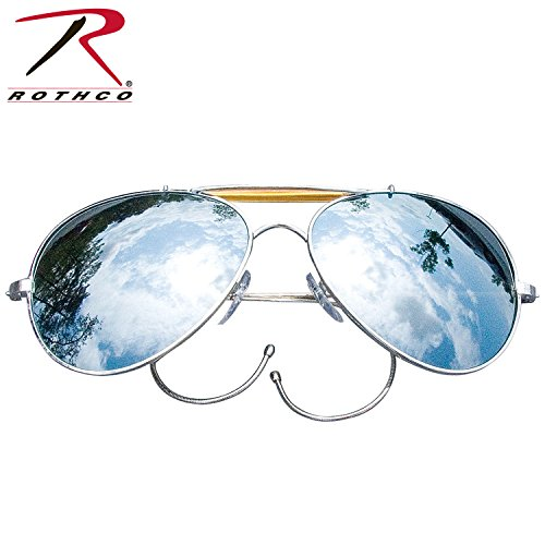 Rothco Mirror Air Force Style Sunglasses with - Aviator Sunglasses Military