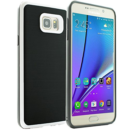 Samsung Galaxy Note 5 Case, [Dual Layer: Thin Armor TPU Interior Silicone + Heavy Duty Solid PC Back] Scratch Resistant Brushed Surface (Note Spigen Flip 4 Case)
