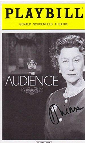 Helen Mirren signed The Audience Playbill