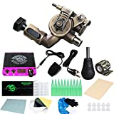 Dragonhawk Extreme X2 Rotary Tattoo Machine Kit Power Supply Needles Grips RCA Cord TZ099