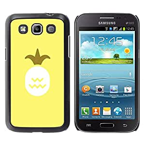 Paccase / SLIM PC / Aliminium Casa Carcasa Funda Case Cover para - Pineapple Art Oil Paint Yellow Fruit - Samsung Galaxy Win I8550 I8552 Grand Quattro
