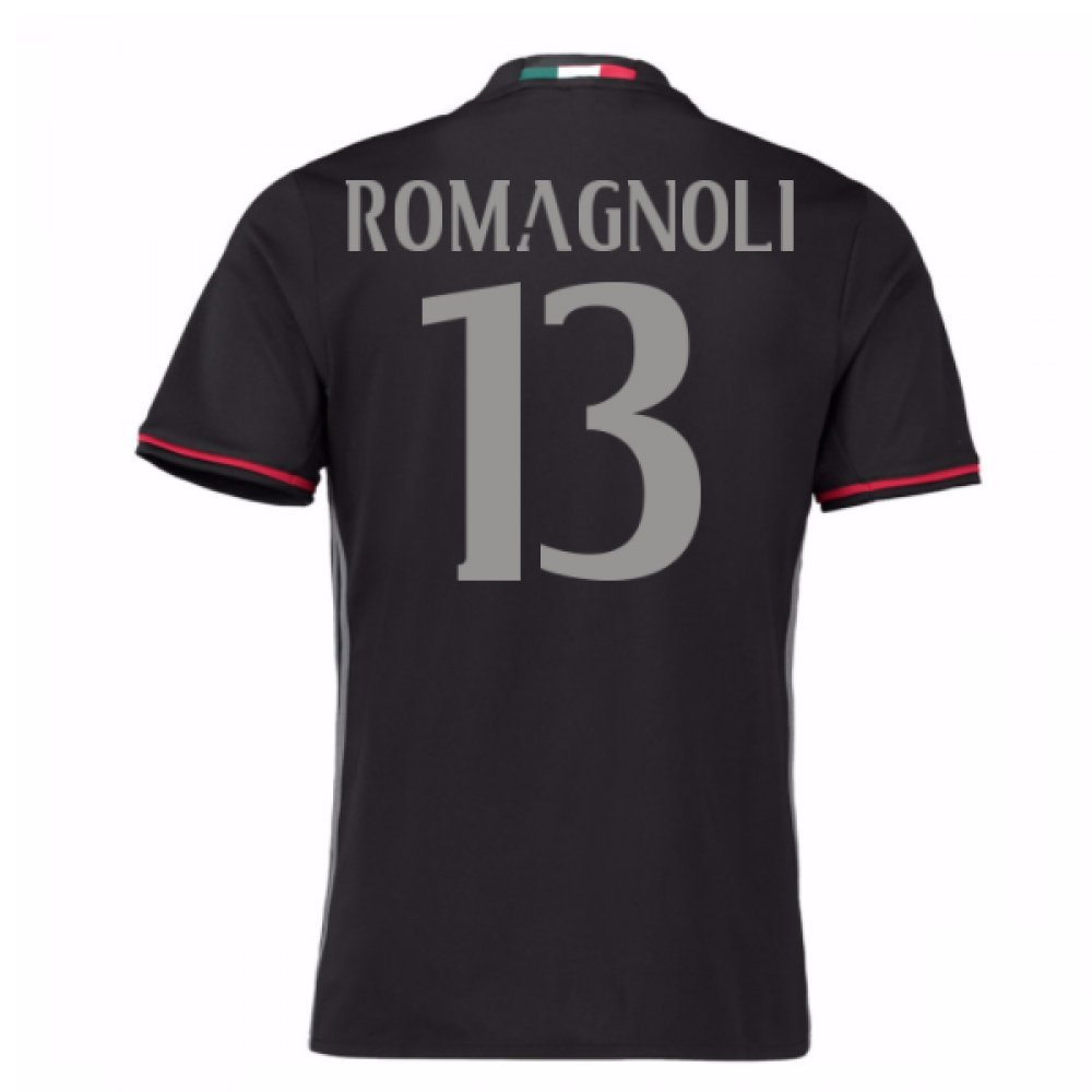 2016-17 AC Milan Home Shirt (Romagnoli 13) B077Z446LTRed Large 42-44\