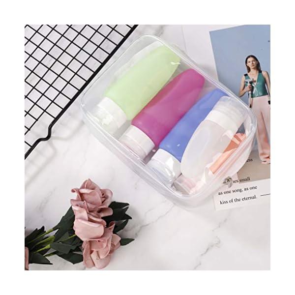 Sacchetto Cosmetico Trasparente PVC Impermeabile Borse da toilette di Cerniera Trucco Portatrucchi Pochette per Viaggio Attività Vacanza Bagno Organizzazione 5 pezzi