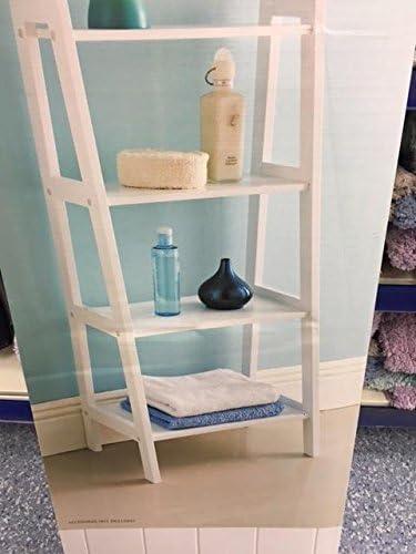 Maine 4 Tier estante de madera DM escalera blanco de muebles de baño: Amazon.es: Hogar