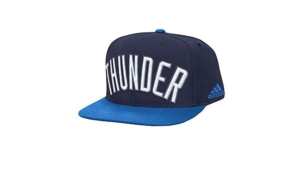 dae7f28c Amazon.com : adidas Oklahoma City Thunder NBA 2015 Authentic On-Court Snap  Back Hat : Sports & Outdoors
