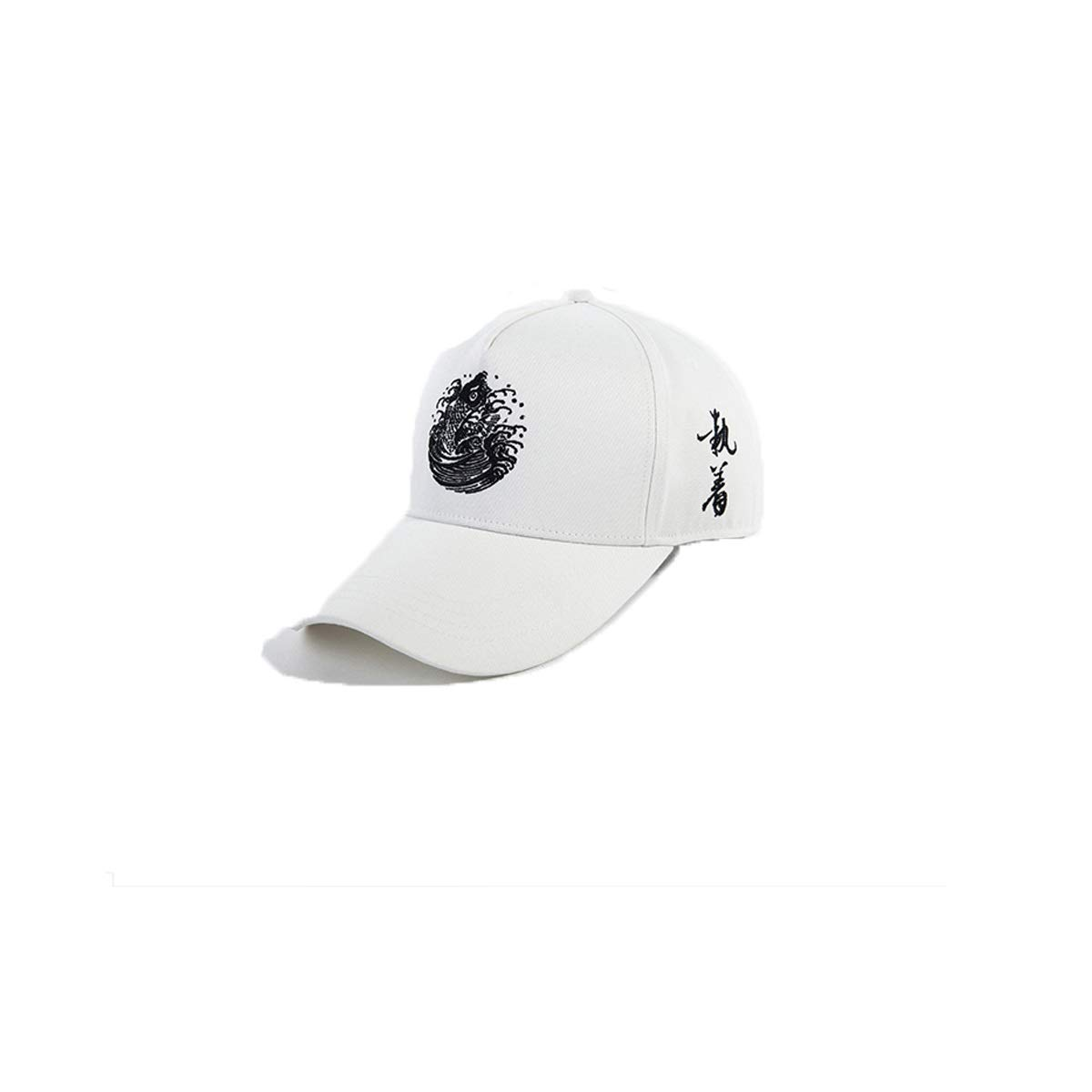 Zhongyue Hat Male Summer Cap Chinese Style Outdoor Sports Cap Casual Wild Baseball Cap, White, Blue, Black Summer hat (Color : White)