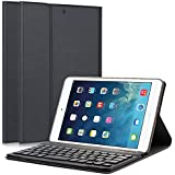 "iPad Mini 1/2/3 Keyboard Case - LUCKYDIY 7.9"" Ultra Slim Shell Stand Cover with Magnetically Detachable Wireless Bluetooth Keyboard for Apple iPad Mini 1 / Mini 2 / Mini 3"