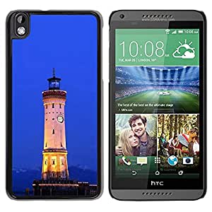 "For HTC DESIRE 816 , S-type Arquitectura Retro Mar Ligthouse"" - Arte & diseño plástico duro Fundas Cover Cubre Hard Case Cover"