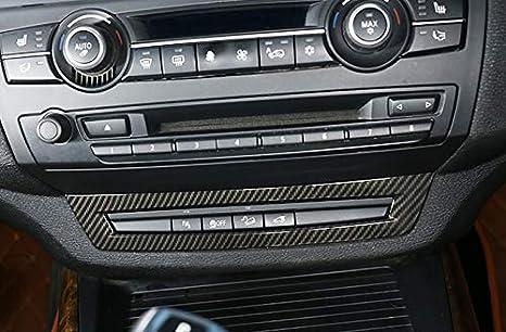 Coque de Ventilation pour Console Centrale en ABS Aspect Fibre de Carbone YUZHONGTIAN pour X5 E70 2007-2013 X6 E71 2008-2014