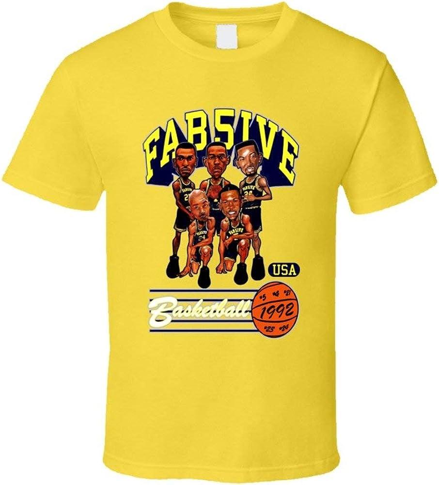 LLZQJ-DAA Camiseta Amarilla con Caricatura de Baloncesto ...