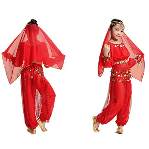 MUNAFIE Children Belly Dance Costumes Fancy Party Cosplay